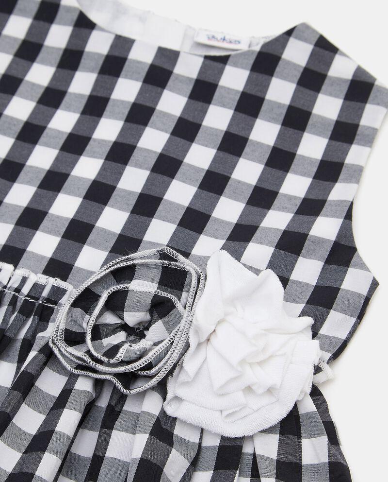 Vestito stampa vichy in cotone neonata