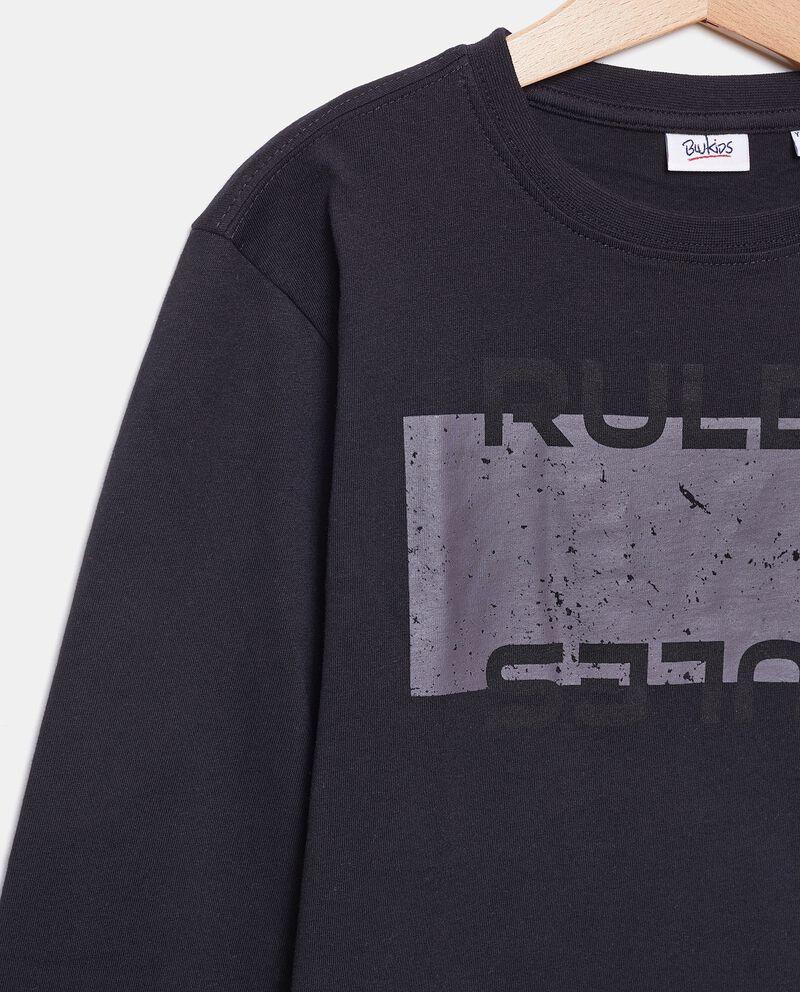 Maglia con lettering puro cotone biologico ragazzo