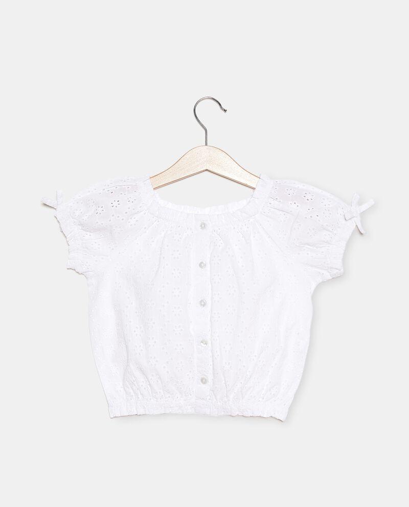Camicia sangallo in puro cotone bambina