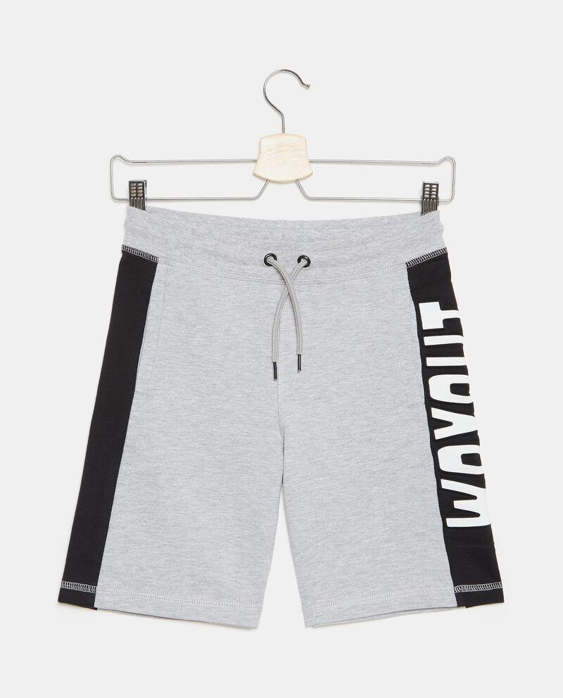 Shorts felpa in cotone organico ragazzo