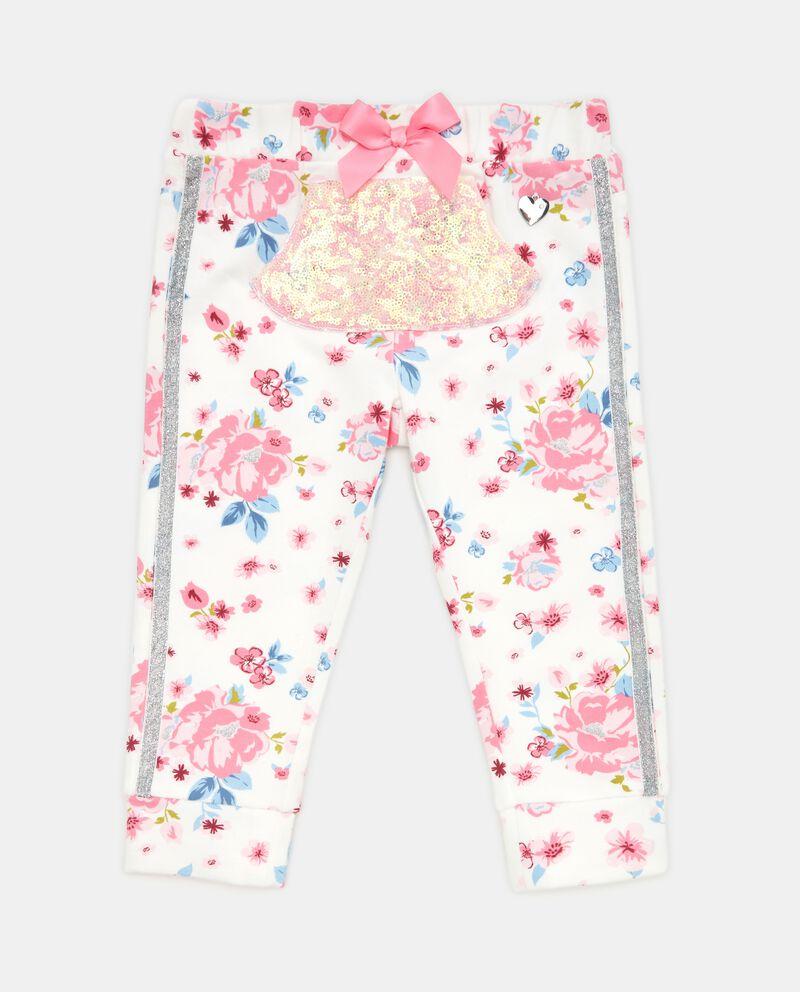Pantaloni con paillettes neonata