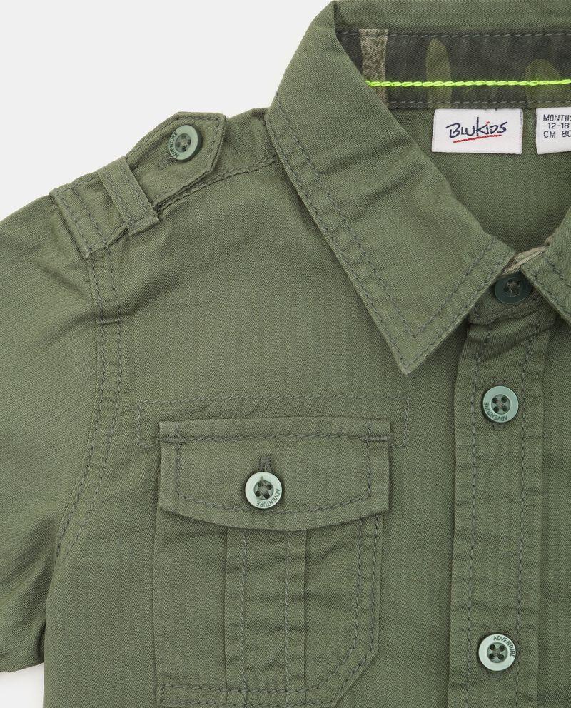 Camicia in puro cotone neonato single tile 1