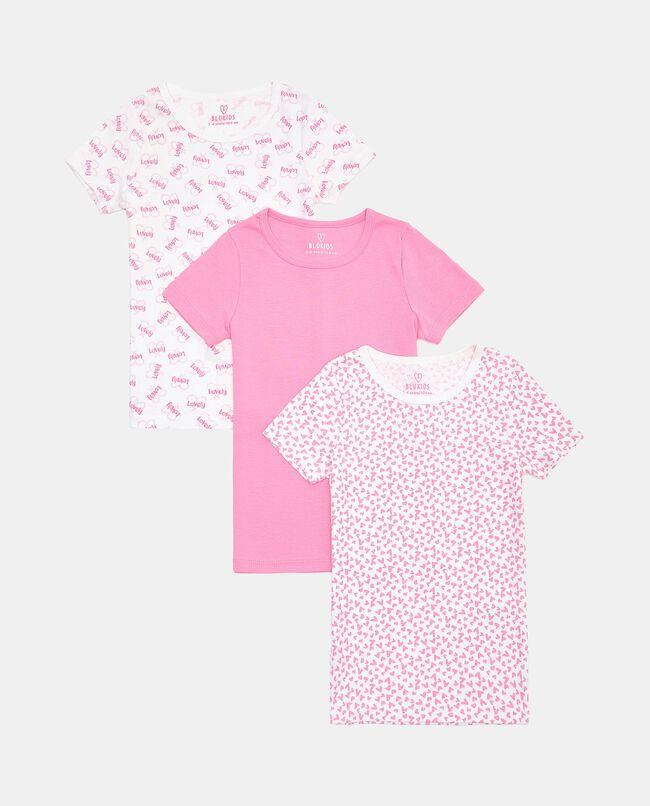 Set con 3 t-shirt intime di puro cotone biologico bambina carousel 0