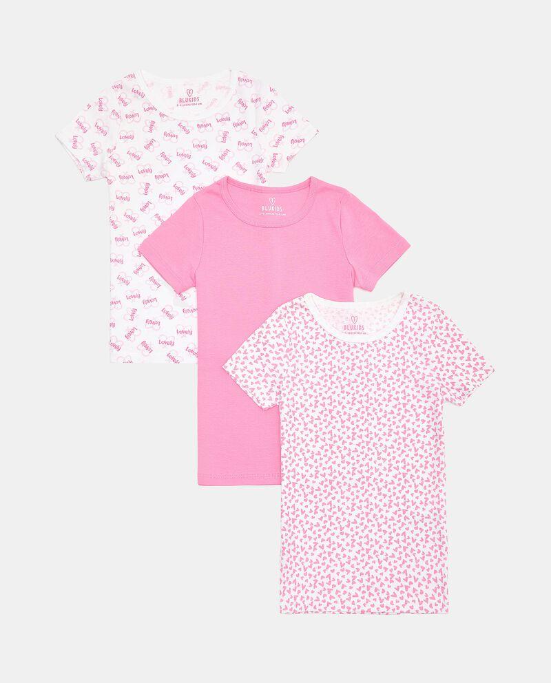 Set con 3 t-shirt intime di puro cotone biologico bambina cover