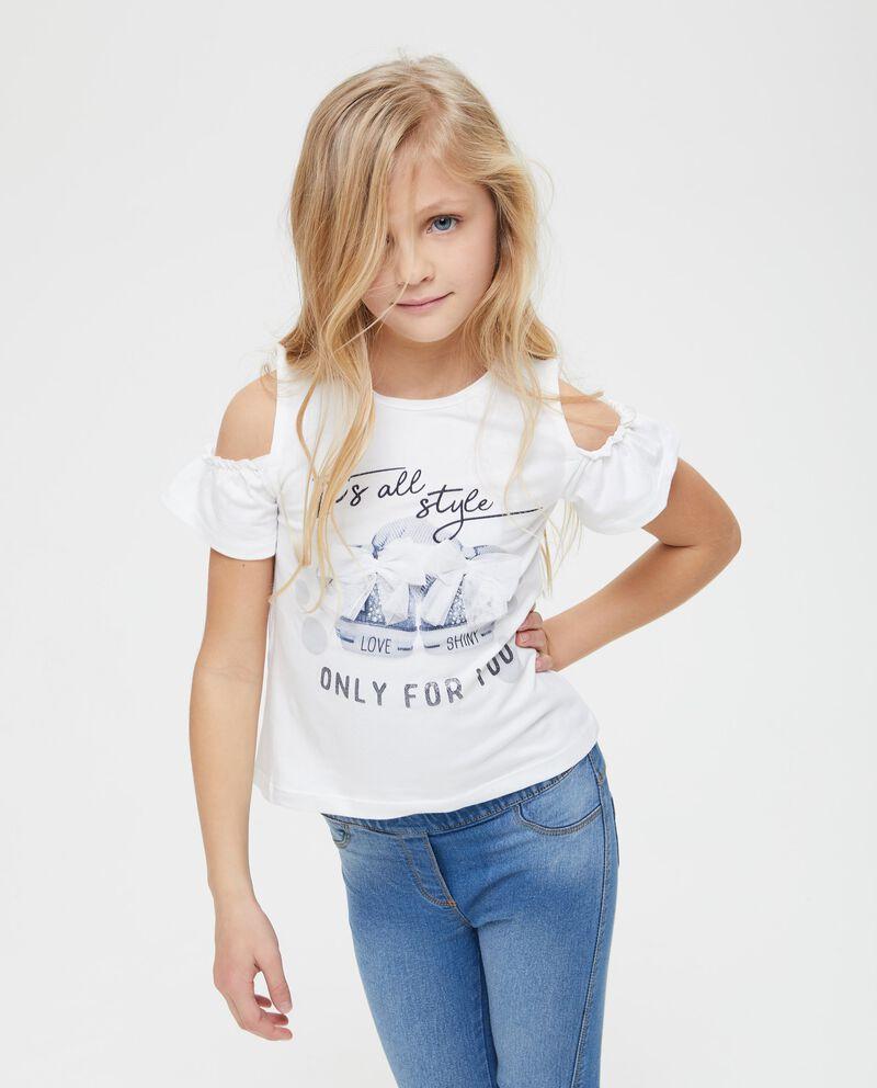 T-shirt con apertura sulle maniche