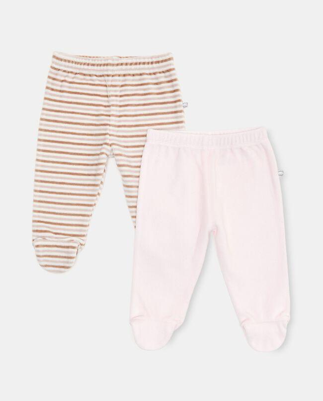 Bipack con 2 pantaloni di cotone biologico carousel 0