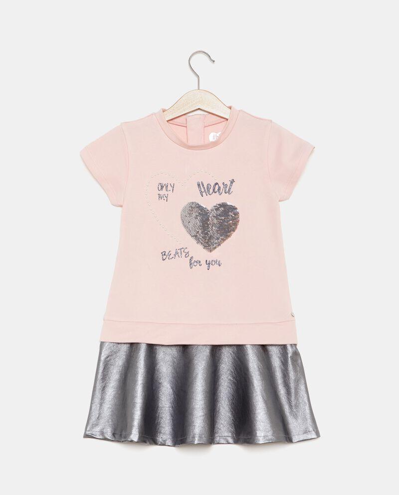 Vestito con fondo metallizzato bambina