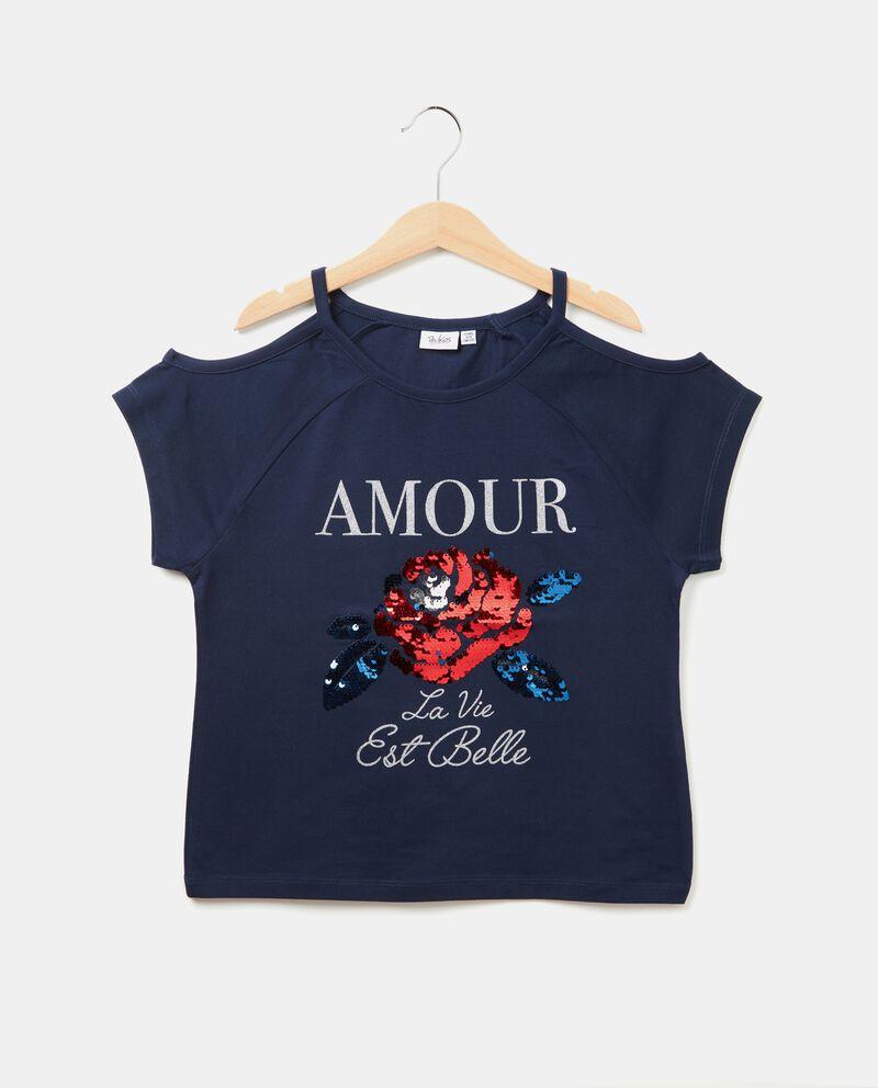 T-shirt con le spalle scoperte