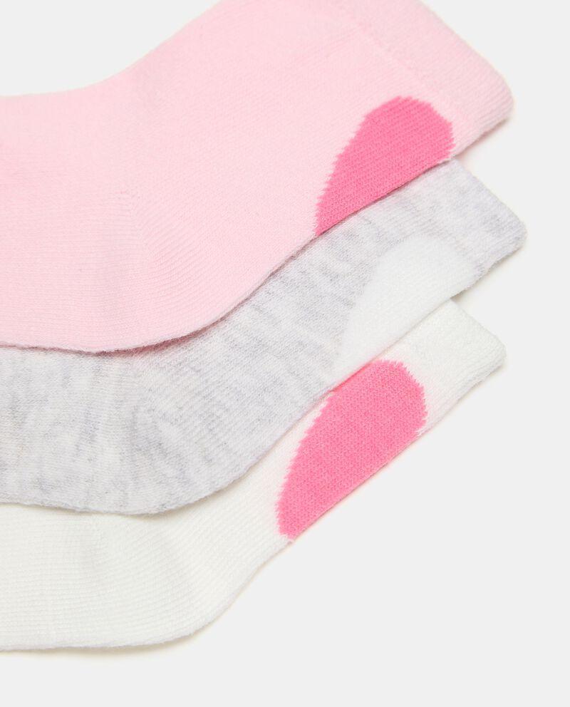 Pack di 3 calzini in cotone organico neonata single tile 1