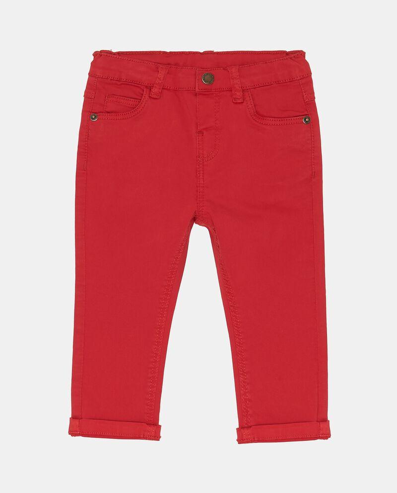 Pantaloni rossi elasticizzati