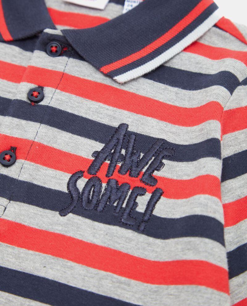 Polo con righe colorate neonato