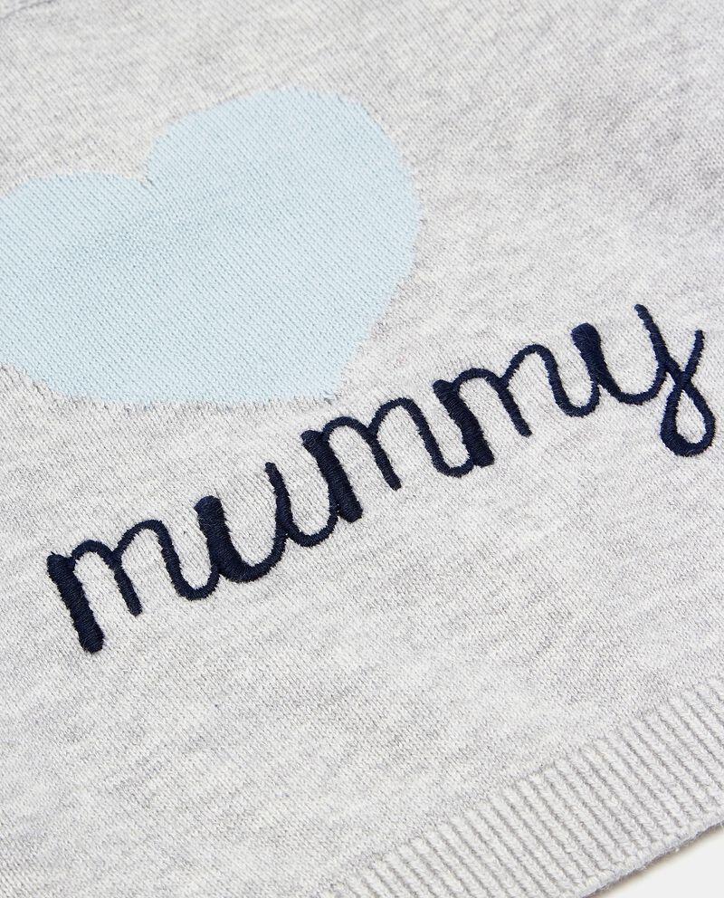 Maglioncino puro cotone con ricamo neonato