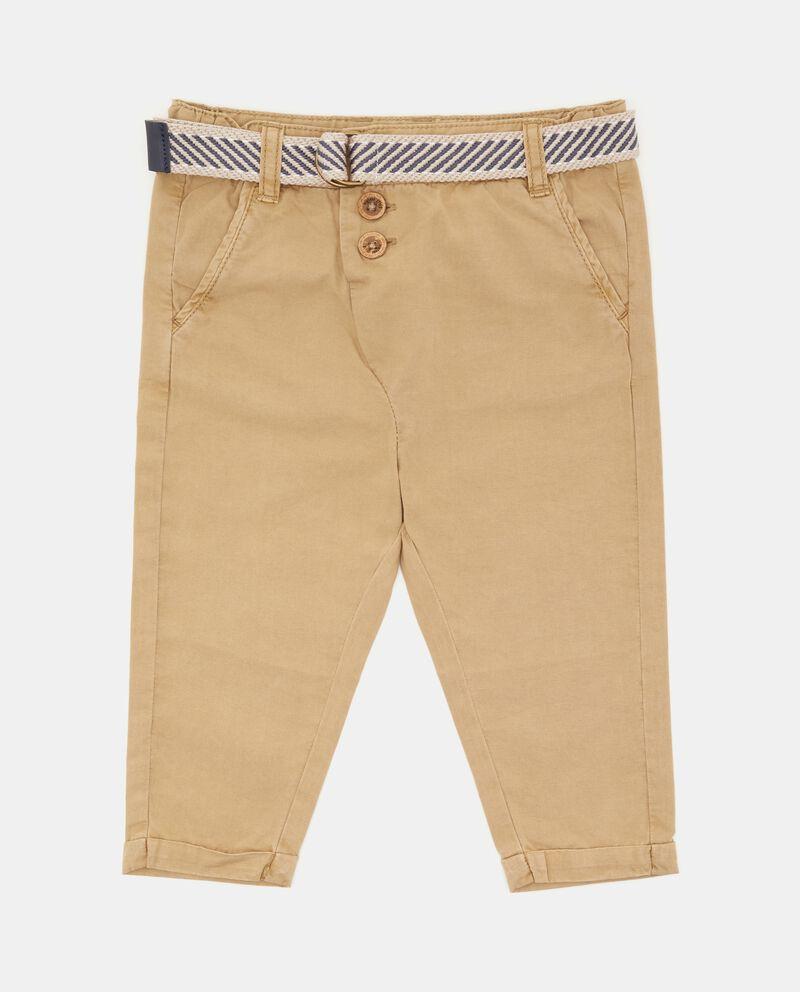 Pantaloni in puro cotone neonato