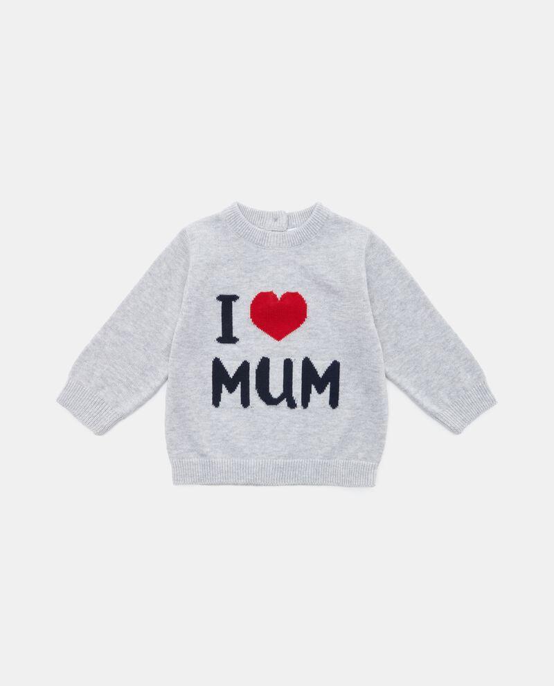 Maglioncino con lettering neonato