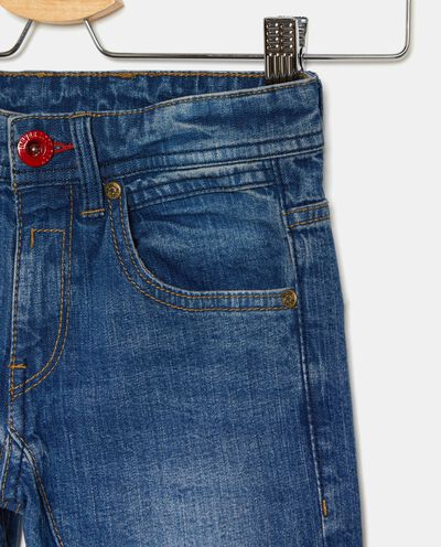 Jeans cinque tasche con risvolto bambino