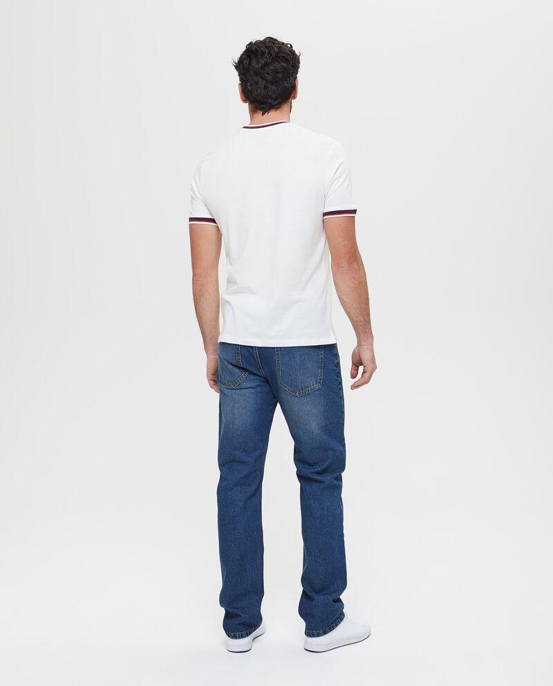 T-shirt uomo in puro cotone con costine