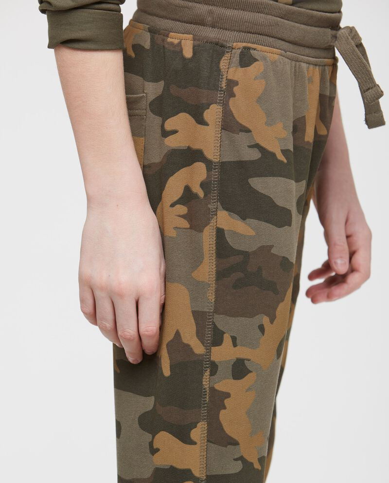Pantaloni cotone camouflage