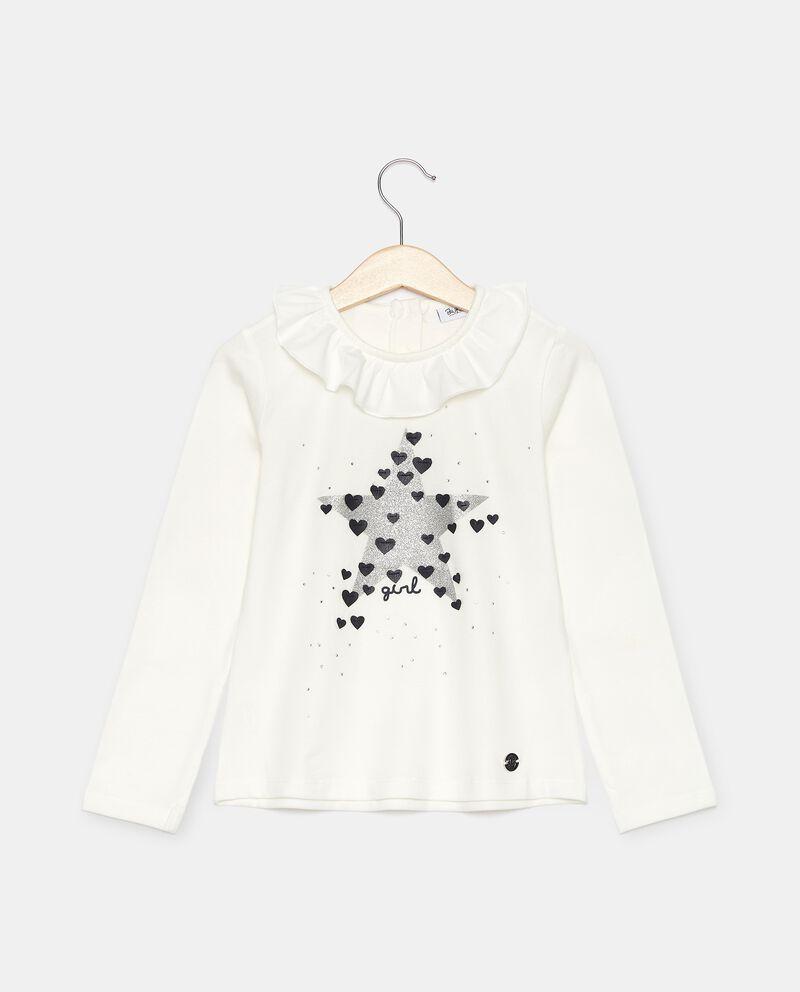 T-shirt in jersey con ruche sul colletto bambina cover