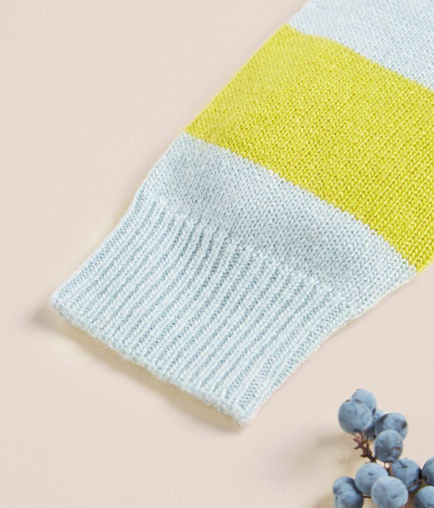 Maglioncino a righe in lana merino e cashmere double 2