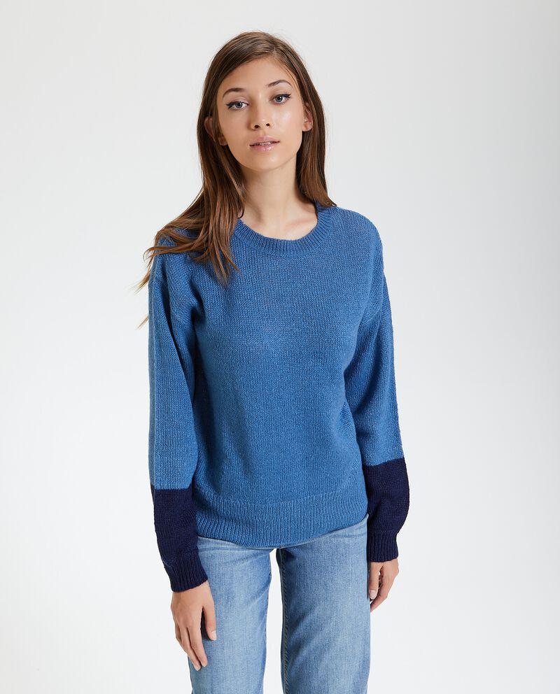 Maglione con doppio colore nelle maniche donna