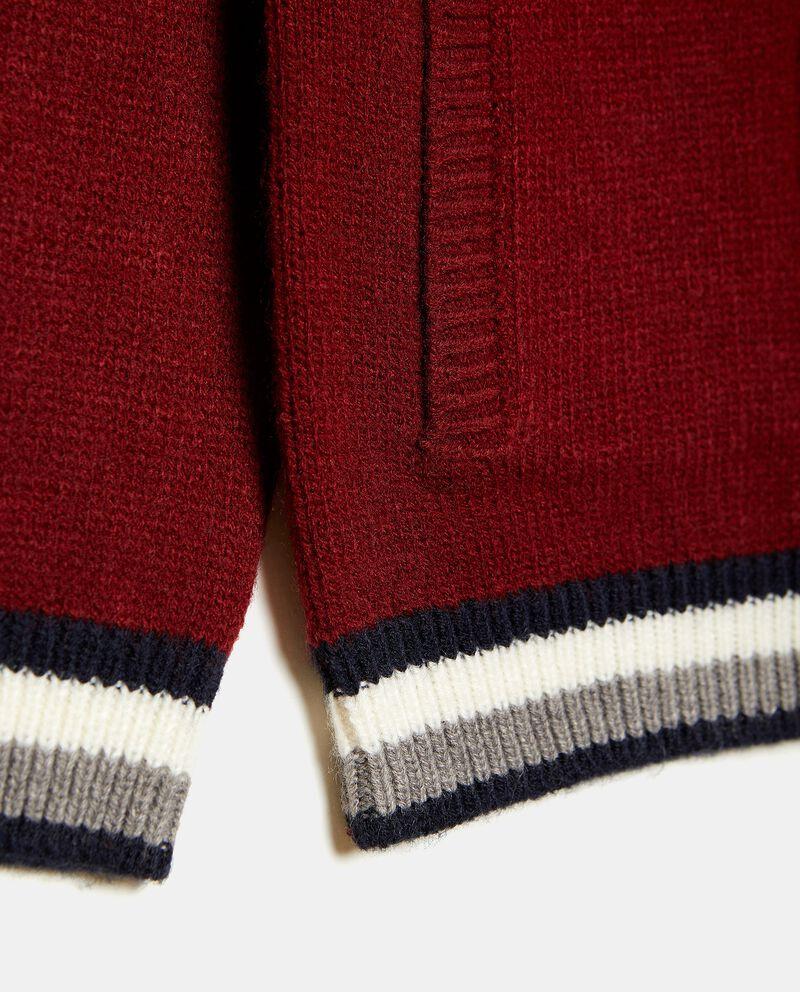 Felpa in misto lana con cappuccio bambino single tile 1