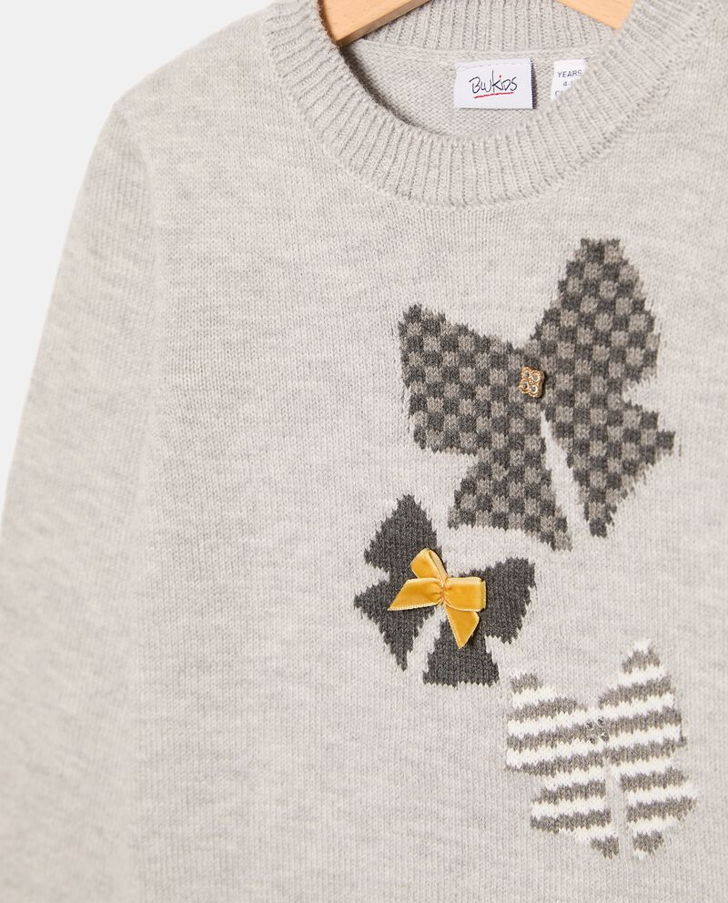 Maglione girocollo con fiocchi ad intarsio bambina single tile 1