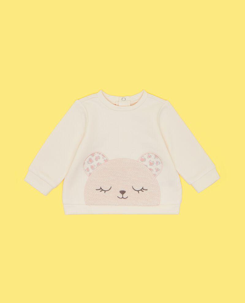 Felpa con disegno applicato neonata