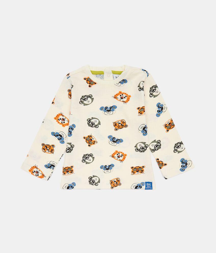 T-shirt in cotone con fantasia neonato double 1