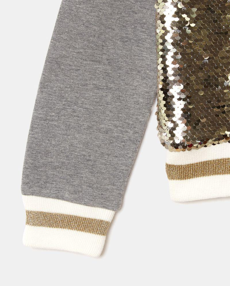 Felpa con inserto in paillettes di cotone bambinadouble bordered 1