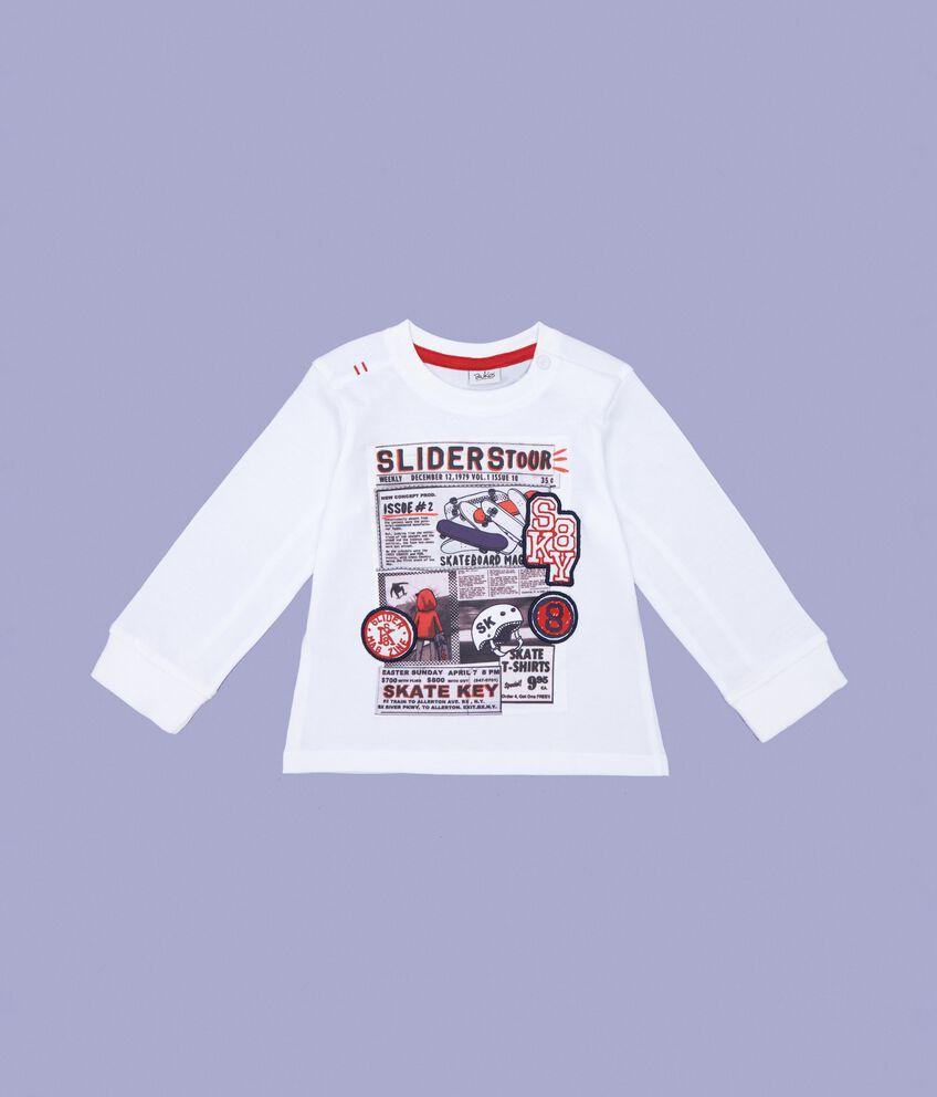 T-shirt stampa in puro cotone neonato