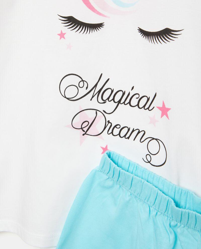 Set pigiama in puro cotone t-shirt con shorts bambina
