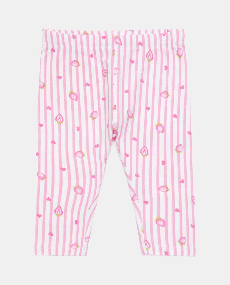 Leggings rigato in cotone organico neonata