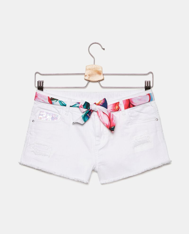 Shorts in jersey con cintura ragazza cover