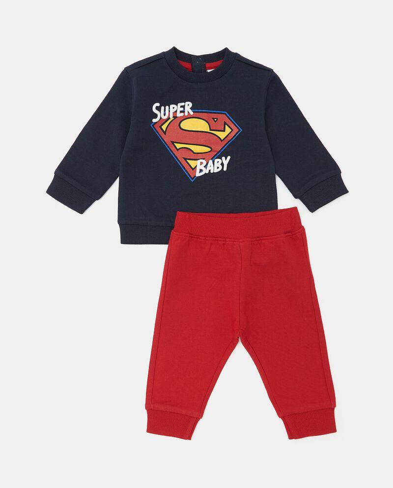 Set jogging Superman in puro cotone neonato