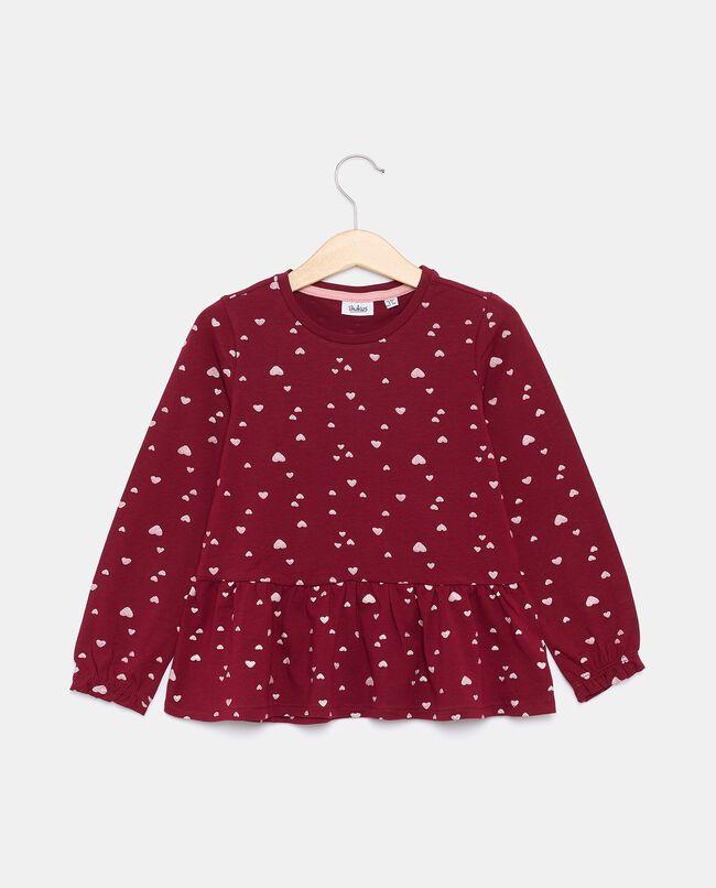 T-shirt in jersey stretch di cotone organico bambina carousel 0
