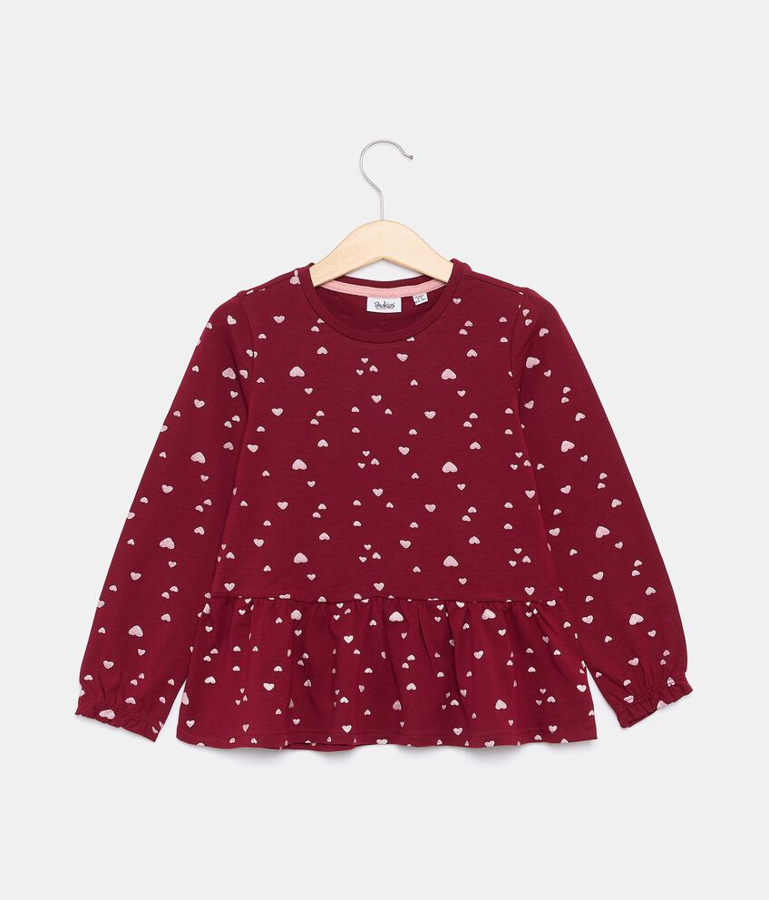 T-shirt in jersey stretch di cotone organico bambina double 1