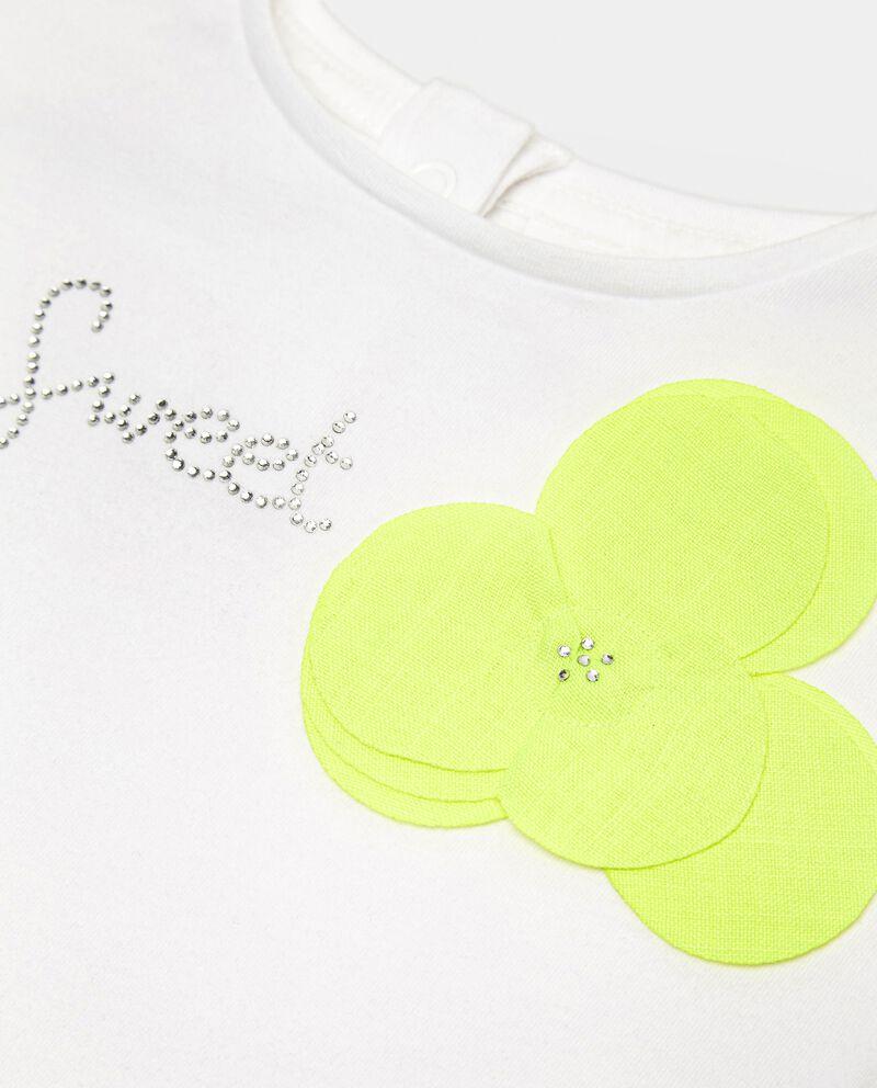 T-shirt in cotone elasticizzato con ruche neonata