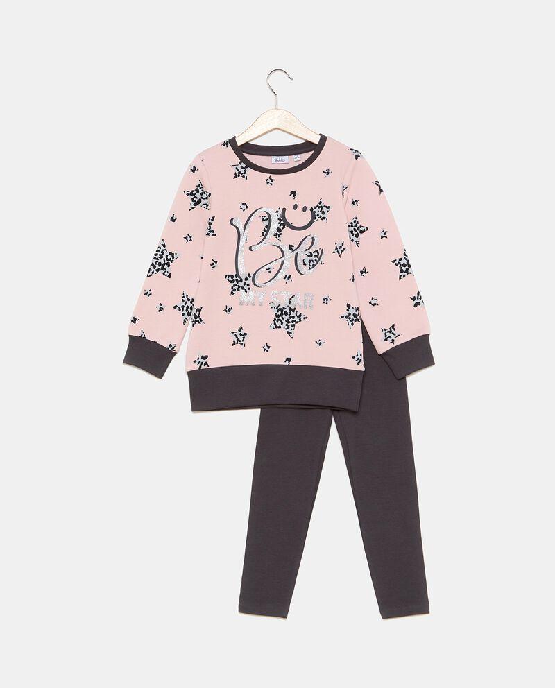 Set con maglia e leggings bambina