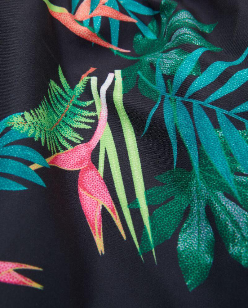 Shorts costume con fantasia tropicale