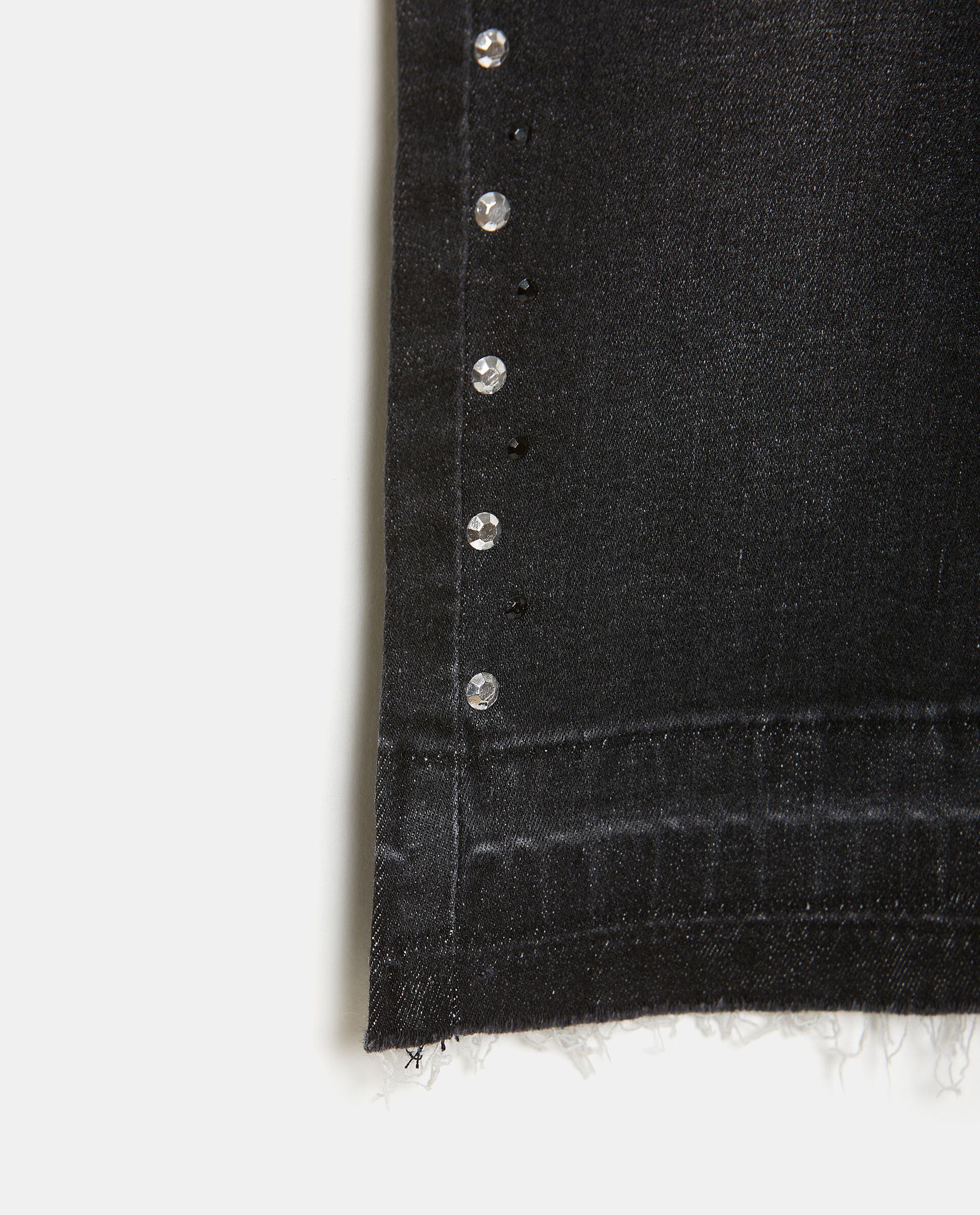 Pantaloni in cotone elasticizzato con strass ragazza