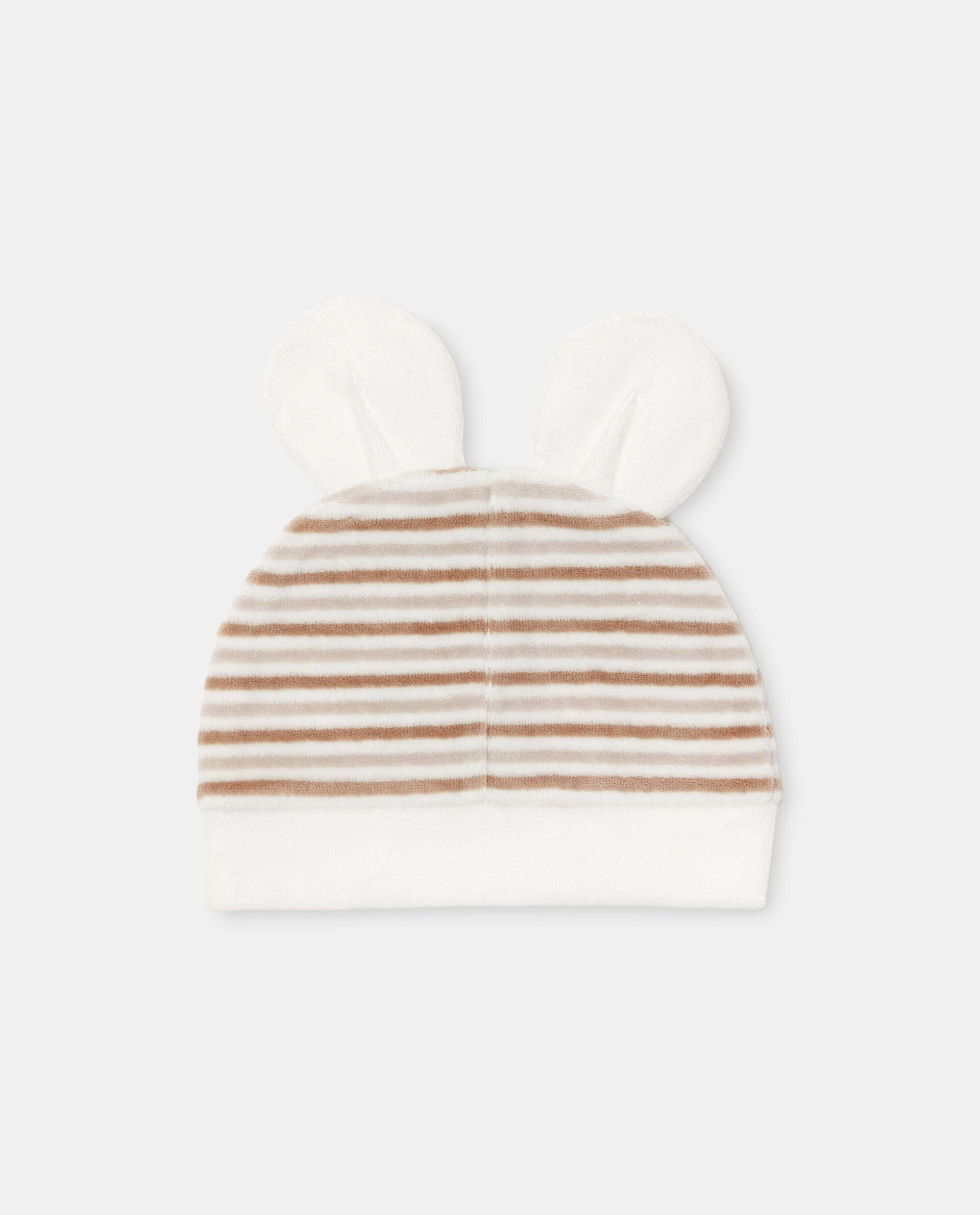 Cappellino con motivo a righe di cotone organico