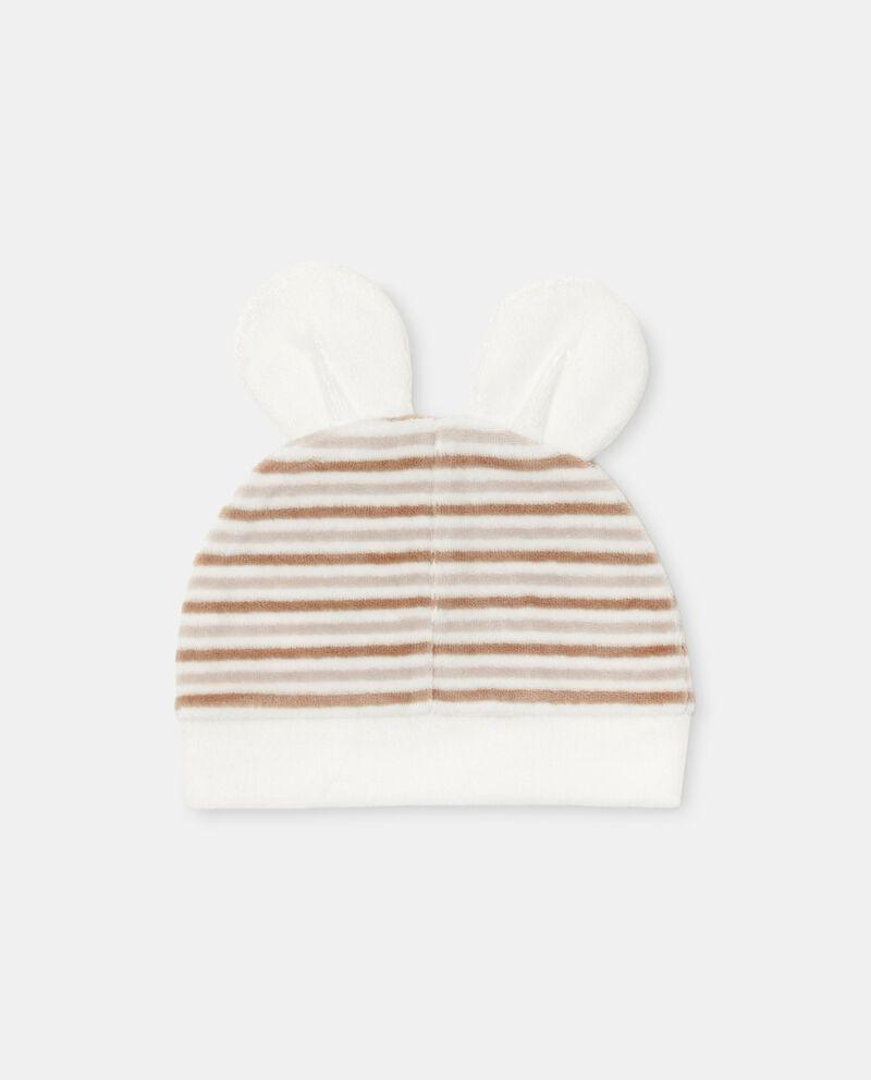 Cappellino con motivo a righe di cotone organico cover