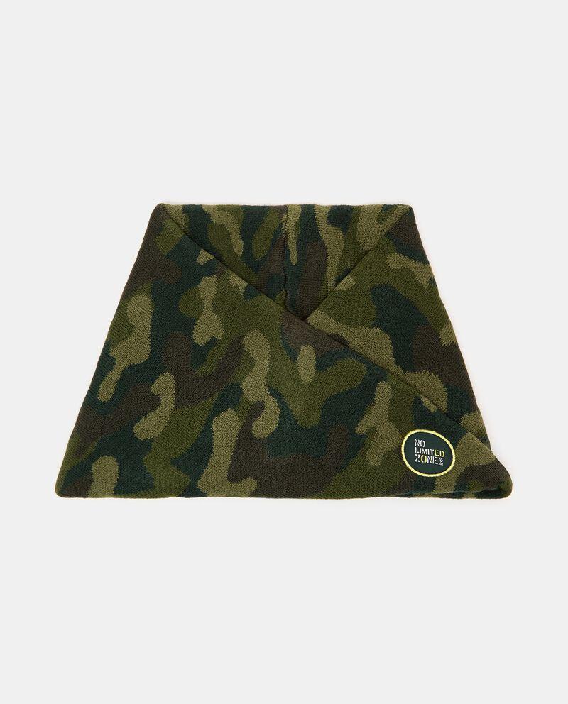 Scaldacollo intrecciato con stampa camouflagedouble bordered 0
