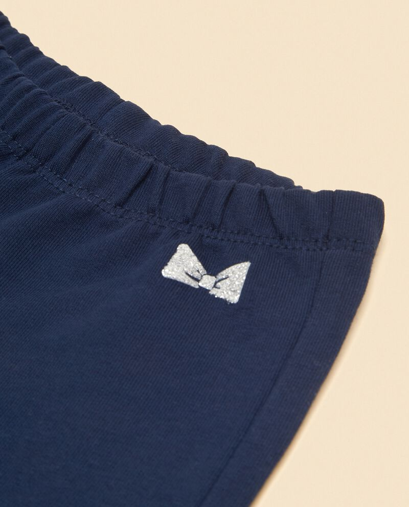 Shorts con volant in puro cotone neonata