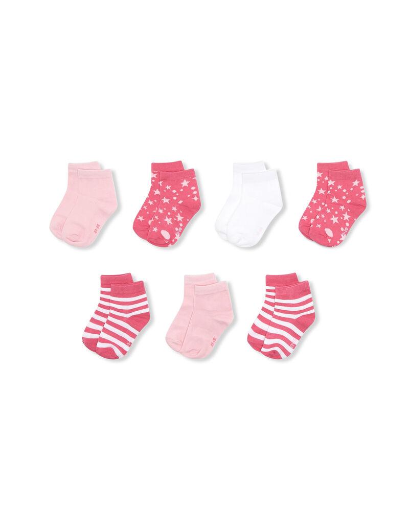 Set sette paia di calze corte stretch