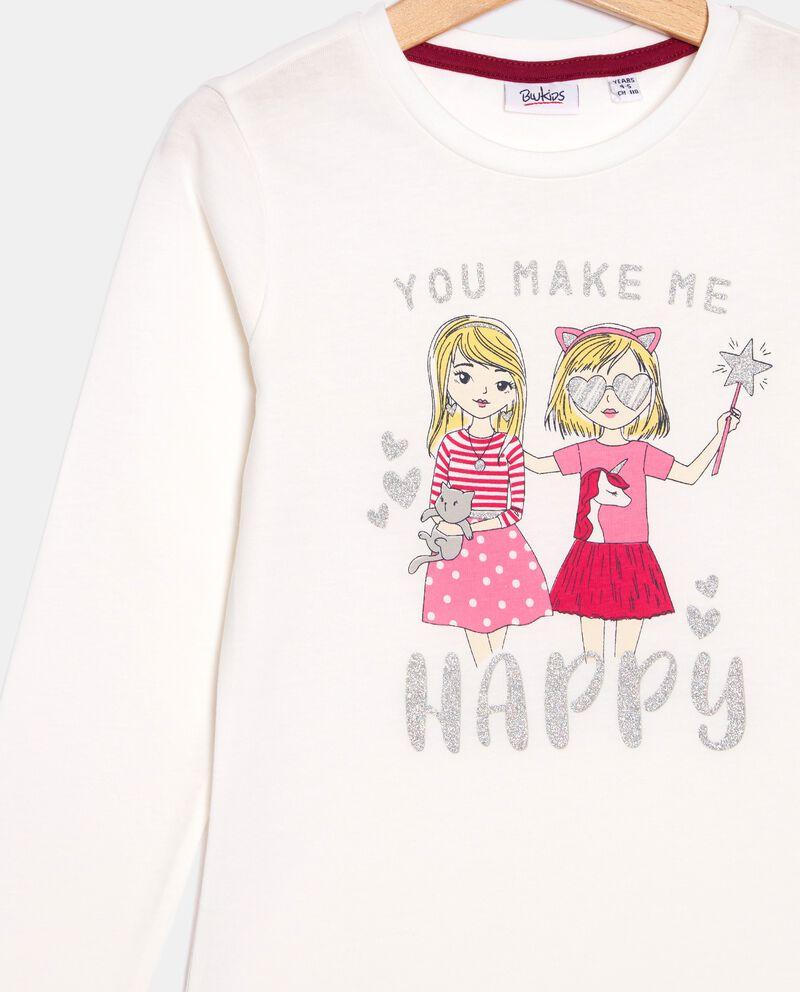 T-shirt con stampa e glitter in cotone organico bambinadouble bordered 1