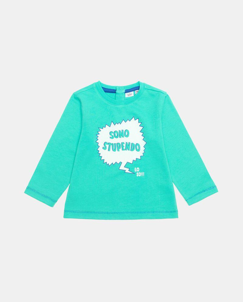 T-shirt stampata in cotone organico neonato cover
