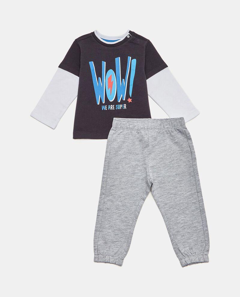 Set con maglia e pantaloni in cotone biologico neonato