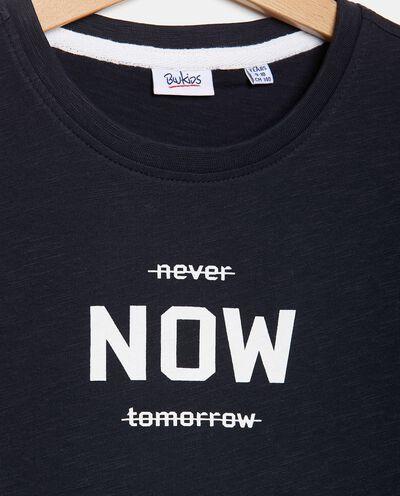 T-shirt con stampa in puro cotone ragazzo