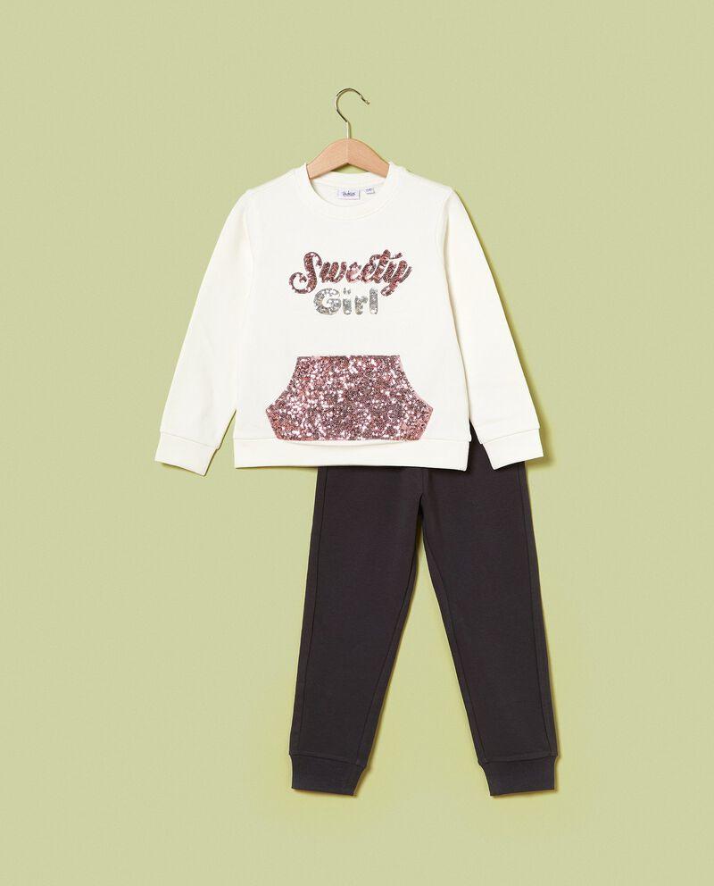 Set jogging felpa e pantaloni bambina